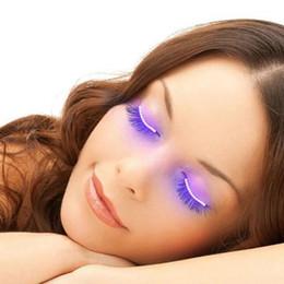 $enCountryForm.capitalKeyWord Australia - LED Eyelash Lamp Fashion Glowing Eyelashes LED Light Eyeliner Double Eyelid Stickers Colorful Voice-activated Light Eyelash Lights Nightclub