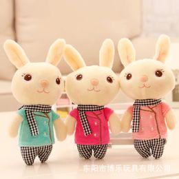 Cloth Bouquet Australia - 1piec Kawaii Plush Rabbit Little Dolls Soft Hare Toys Plush Bouquet Holiday Gift Pendant FOR GIRL Christmas Present 2018 HOT