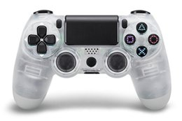 Wireless Ps2 Controllers Australia - Transparent Wireless Ps 4 Gamepad Bluetooth Controller For PS 4 Dual Vibration Joystick Gamepad Game Controllers Camouflage Handle