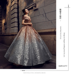 $enCountryForm.capitalKeyWord Australia - The New Type of Shoulder Dream Princess Fairy Skirt in 2019 Gradually Changed Full Skirt Wedding Dresses Wholesale