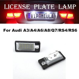 audi a6 lamp Australia - Car Light For Audi A3 A4 A6 A8 Q7 RS4 RS6 LED License Plate Lamp White Color Auto Accessories For Audi Size 70x33x18mm