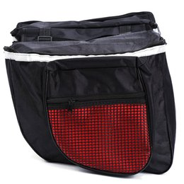 bike trunk bag NZ - Waterproof Mountain Road Bicycle Bike Rack Back Rear Seat Tail Carrier Trunk Double Pannier Bag Back Rain Cover And Red