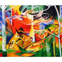 $enCountryForm.capitalKeyWord Australia - abstract paintings by Franz Marc Deer in the Forest hand painted High quality