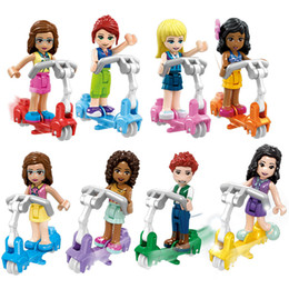Bicycle figures online shopping - Girl Series Friends Bicycle Friendship Building Blocks Action Figures Boys Kids Toys
