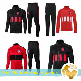 jackets tracksuits Australia - 2019 Atletico soccer jacket 19 20 maillots training suit GRIEZMANN FTORRES KOKE Madrid football jacket Long zipper tracksuit set