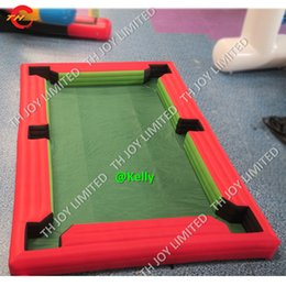 Snooker billiard pool online shopping - 6x4 x5 x6m customized Inflatable Snooker Pool Table game for sale cheap inflatable Snooker carnival Football billiard snooker fields