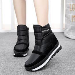 Snow Boots Size 42 Australia - 2018 winter women snow boots flat non-slip winter shoes women plush waterproof ankle boots warm winter boots big size 35-42
