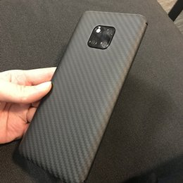 real carbon fiber cover NZ - Mobile Accessories Mobile Phone Cases Covers Ultra-light Matte 100% Real Carbon Fiber Cover For Huawei Mate 20 Phone Case For Huawei
