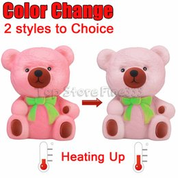 Changing rose online shopping - Thermal Induction Temperature Color Change Squishies Bear Slow Rising Scented Reliever anti stress oyuncak stationery items A1