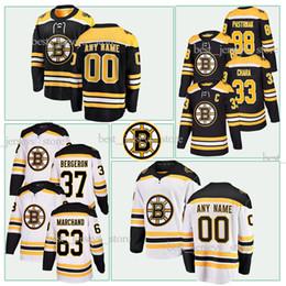6204f5b37 customized New Season Boston Bruins Jersey 63 Brad Marchand 88 David  Pastrnak 4 Bobby Orr 33 Zdeno Chara 37 Patrice Bergeron Hockey Jerseys