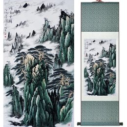 chinese landscape oil paint NZ - Traditional People Painting Chinese Scroll Painting Landscape Art Painting 19061001