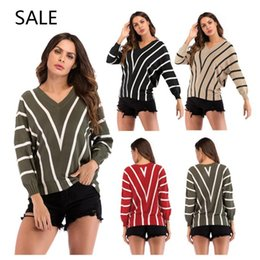8aa5a2215d ladies sweater design long 2019 - Women Knitted Sweaters Long Sleeve Casual  Style Fashion Special Striped