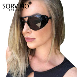 2ddeca7f8d503 Hip Hop Shades Men Australia - SORVINO Retro Men Gothic Oval Sunglasses  Women Brand Designer 90s