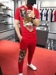 $enCountryForm.capitalKeyWord NZ - Korean New Pattern Man Tracksuit Lapel 113 And Short Sleeve Motion Trousers 2019 Edition Embroidery Leisure Sports Suit