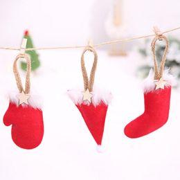$enCountryForm.capitalKeyWord Australia - New Indoor Christmas Tree Mini Glove Hat Boot Pendant Decorations Bar Club Christmas Party Decoration Supplies