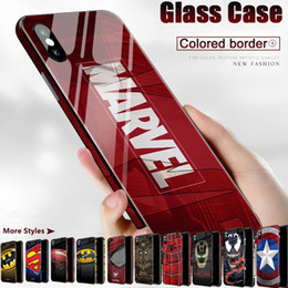 glasses case material NZ - Luxury case for iphone 11 Marvel Comics Patterned Venom 3D Tempered Glass Material Phone Cases For iPhone 11 Pro MAX XS