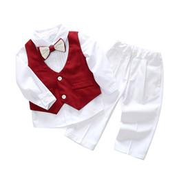 $enCountryForm.capitalKeyWord Australia - boys wedding dress baby kid infant boy designer clothes spring and autumn gentleman boys suit shirt vest pants three-piece children clothing