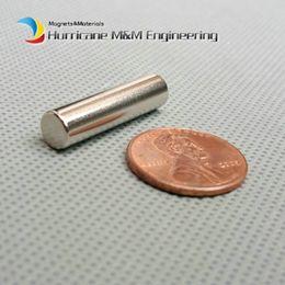 "Wholesale Neodymium Magnet Cylinder Australia - 500 Pcs N42 Cylinder Dia 6.35x25.4 Mm Ndfeb Magnet Rod 1 4""x1"" Strong Neodymium Magnets Rare Earth Magnets Permanent Sensor"