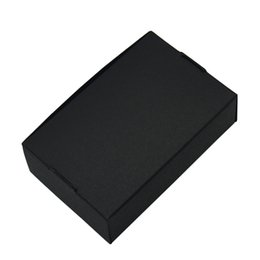 Kraft Jewelry Gift Boxes UK - 50pcs lot 9.4*6.2*3cm Black Kraft Paper Box Boutique Package Foldable Craft Paper Boxes for Wedding Jewelry Gift Storage Decoration Carton