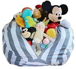 plush toy beans UK - 16 inch 4 Design Kids Plush Toys Soft Cotton Clothes Storage Bean Bags Beanbag Tatami Leisure Bag Beanbag Bedroom Stuffed Storag Bag