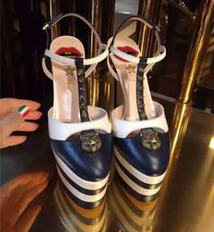$enCountryForm.capitalKeyWord Australia - Summer Platform Spiked Gladiator Sandals Women Striped Metallic High Heels Pumps Escarpins Ladies Prom Wedding Shoes Mary Jane Shoes