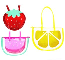 cute waterproof bag Australia - 2018 Summer Fashion Cute Fruit Strawberry Lemon Watermelon Transparent Women Shoulder Bag Handbag Tote Bag Waterproof Beach Bags