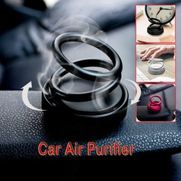 yoga incense Australia - High-end Double Ring Rotating Designed UFO Car Air Purifier Car Fragrance Incense Base Incense Burners Holder Home Yoga Car Gift