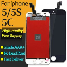Iphone 5c Screens Panels Australia - A++++ Quality For iPhone 5 5S 5C LCD Display Touch Digitizer Screen Replacement Black White for iphone 5C lcd