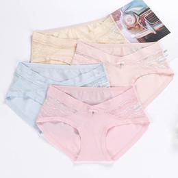 5f5057b7ea6 Pregnant women s underwear lace Cotton Lady s Underwear Low waist cotton No  sign of abdomen Big size trousers Maternity Pants Underpants