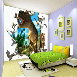 Kids Scenery Australia - custom size 3d wallpaper photo wallpaper kids room wall cave dinosaur scenery 3d picture sofa TV backdrop wallpaper non-woven wall sticker