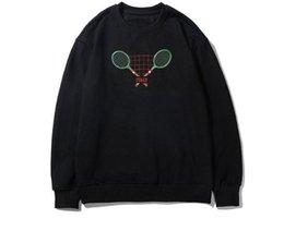 $enCountryForm.capitalKeyWord UK - 2019 fashion autumn clothing designer Brand mens tennis racket letter embroidery hoodies pullover hooded black Cotton casual sweatshirt WRWR