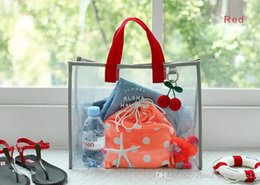 $enCountryForm.capitalKeyWord Australia - Free shipping Transparent PVC Hand Carry Swimming Bag Portable Clothing Package Package Fashion Beach Bag Travel Bag