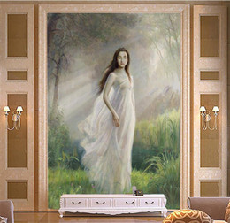 modern girl bedding 2019 - custom size 3d photo wallpaper living room bed room mural forest Chinese girl painting iporch backdrop wall wallpaper no