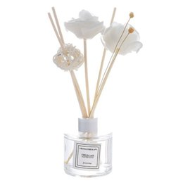 artificial flowers wholesale bulk UK - 50Ml Reed Oil Diffusers With Natural Sticks, Glass Bottle And Scented Oil Home Decoration Accessories Artificial Flowers 2020 Essential Oils