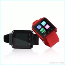 Wrist Watch Phone Cheap Australia - Hot Selling Ce Rohs Silicone Strap Smart Watch U8 Wristwatch Cheap Support Bluetooth Speaker Android Mobile Phone Watch U8 2017 2018