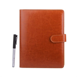 $enCountryForm.capitalKeyWord UK - A5 Leather Notebook Refillable Loose Leaf Business Notebook Conference Folder Travel Dairy Notebook 200 Pages