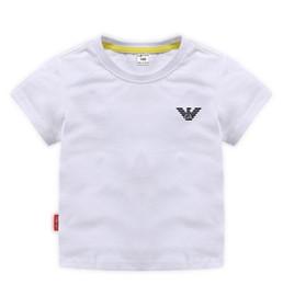 $enCountryForm.capitalKeyWord Australia - Summer hot children's hot stamping T-shirt short sleeve 100% cotton shirt T-shirt fashion short-sleeved loose T-shirt 90-150cm