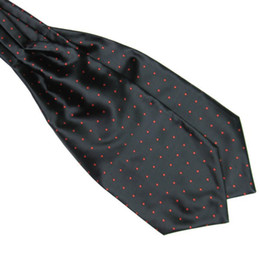 polka dot handkerchief Canada - Brand New Polka Dot Men Long Silk Scarves Cravat Ascot Ties Handkerchief Gentlemen