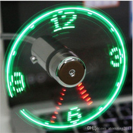 $enCountryForm.capitalKeyWord Australia - Hot Sale Mini USB Fan gadgets Flexible Gooseneck LED Clock Cool For laptop PC Notebook Time Display high quality durable Adjustable