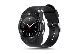 $enCountryForm.capitalKeyWord Australia - V8 smart watch Bluetooth watch Android 0.3M camera plable phone card smart watch ios Android phone