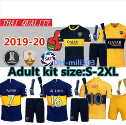 China 2019 2020 Boca Juniors Jersey Home Away uniform 19 20 Boca Juniors GAGO OSVALDO CARLITOS PEREZ DE ROSSI sports football shirt kits cheap men soccer jersey kits suppliers