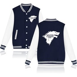 new songs 2019 - New! Leisure personality Lover's Baseball Jackets Song of Ice and Fire printing Casual Sweater cotton material Leni