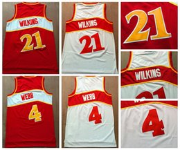 $enCountryForm.capitalKeyWord Canada - Top Quality #21 Dominique Wilkins Jersey Red White #4 Spud Webb Jersey Mens Vintage Shirts Uniforms New Mesh Material Stitched Red White