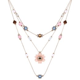 $enCountryForm.capitalKeyWord Australia - Fashion sweater chain hotsales Personalized multi-layer colored jewel necklace with flower and bead element necklace 61161036