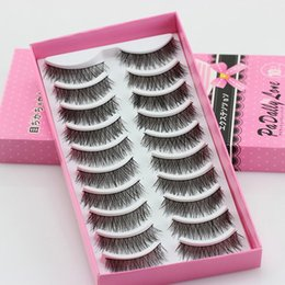 $enCountryForm.capitalKeyWord Australia - #5001 Fashion Eyelashes High Quality Eye Lashes 10 Pairs Thick Long Cross Party False Eyelashes Black Band Fake Eye Lashes