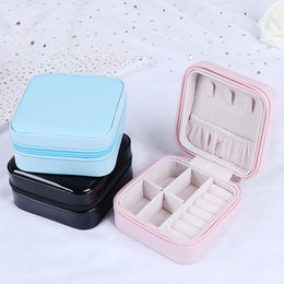 $enCountryForm.capitalKeyWord Australia - 1PCS Portable Leather Jewelry Casket Cosmetic Storage Box Makeup Packing Organizer Multi-function Earrings Ring Container Case
