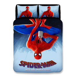 spiderman beds Australia - 3D Bed Sheets Queen Bedding Sets Young Spiderman Printing Pattern Duvet Covers New Style Cartoon Pillow Case Polyester King Size
