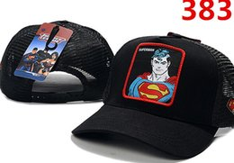 Discount hip hop cap snapback batman - Hot Sale Men Women Designer Summer Many Style adult Cartoon Snapback Mesh Superman Batman Spider-Man Baseball Cap Hip-Ho