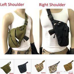 Großhandel Taktische multifunktionale verdeckte lagerung pistolenhalfter links rechts umhängetaschen diebstahlsichere tasche brusttasche für die jagd