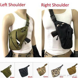 Tactical Multifunctional Concealed Storage Gun Bag Holster Left Right Shoulder Bags Anti-theft Bag Chest Bag for Hunting on Sale